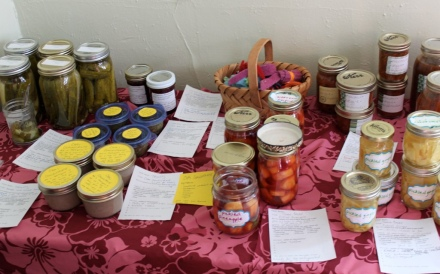 some of the contributions at the March food swap