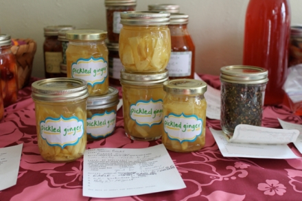 Pickled Ginger from the March 2011 food swap