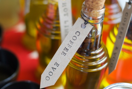 Coffee bean-infused olive oil from the May food swap | Photo by A-K Thordin