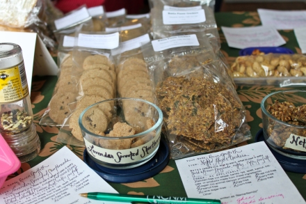 Sprouted Spelt Lavender Shortbreads and Sprouted Flax Crackers